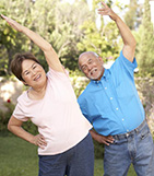 People exercising to prevent falls