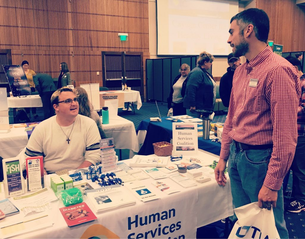 JD Drader tabling at the Ithaca College Employee Benefits Fair